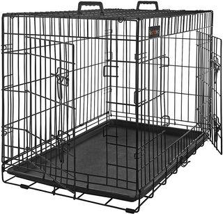 Jaula/transportin doble puerta perro grande