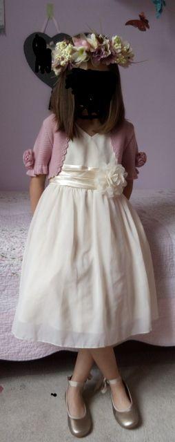 vestido ceremonia+chaqueta+corona