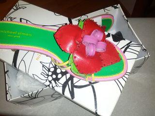 Sandalias vintage de diseño piel 39 nuevas