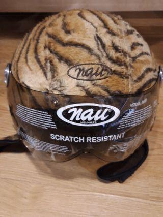 Casco Nau T-S acabado en piel leopardo