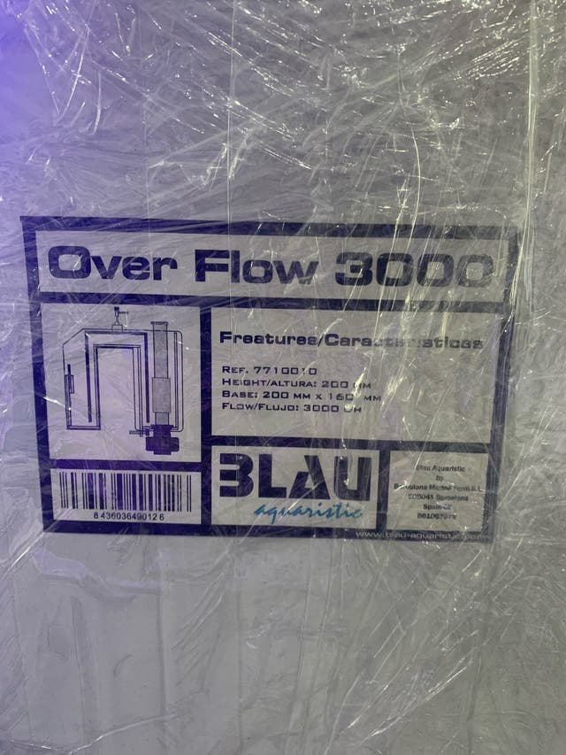 Rebosadero Overflow Acuario Marino Blau 3000