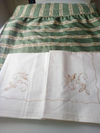 Colcha, cortinas y sábanas
