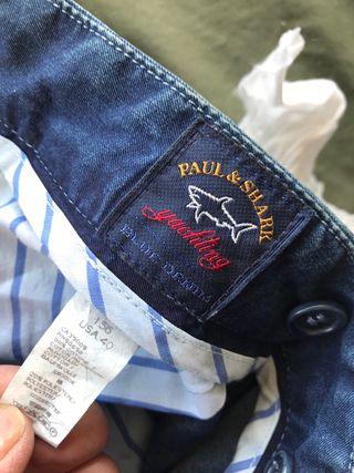 Vaquero pinzas azul PAUL AND SHARK 54 española