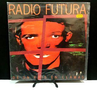 RADIO FUTURA LP DE UN PAÍS EN LLAMAS DISCO VINILO