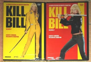 2 dvds Kill Bill vol. 1 y 2