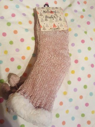 calcetín antideslizante invierno