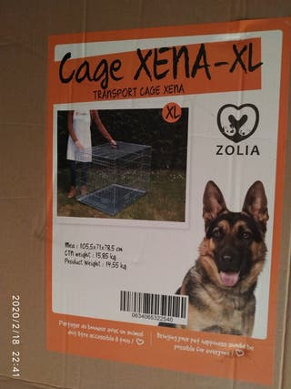 Jaula de transporte para perros