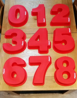 XL Silicone Number Cake Moulds 0 1 2 3 4 5 6/9 7 8