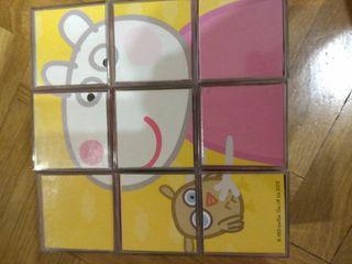 seis puzzles de Peppa Pig