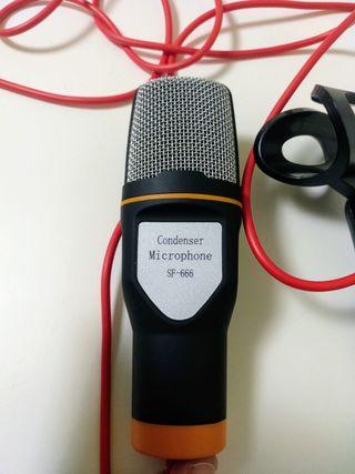 Micrófono Condensador de 3,5 mm Jack con soporte