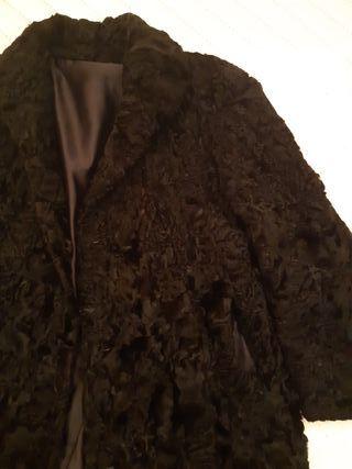 abrigo piel garras astracan