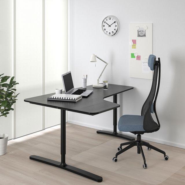 Mesa escritorio tipo Bekant IKEA negra