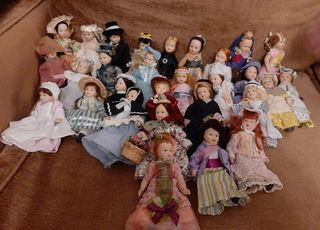 Colección muñecas victorianas de porcelana +libros