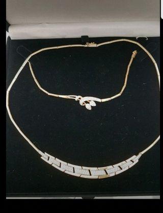 conjunto collar y pulsera oro 18 quilates