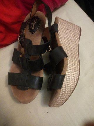 Sandalias de plataforma Piel