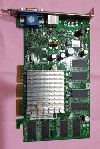 NVidia GeForce Fx550 256mb AGP vga tv out