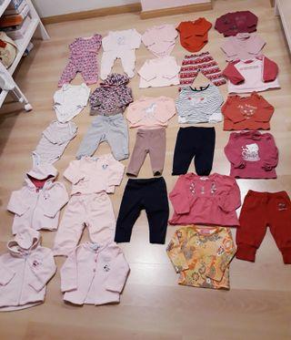 Lote ropa niña talla 9 a 12 meses