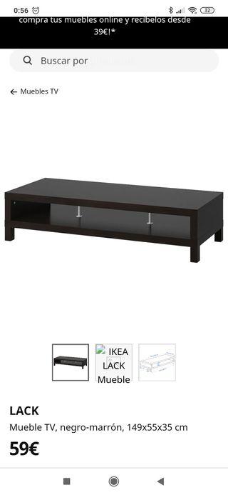 Mueble TV Ikea Lack negro