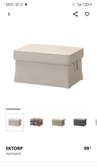 Reposapiés (puf) con almacenaje Ektorp IKEA