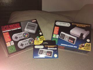 Nintendo SNES NES Mini y Mando