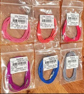 Cordón de seda Pandora de colore y cierre Pandora