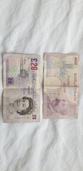 20 £ (20 pounds) billete Inglaterra