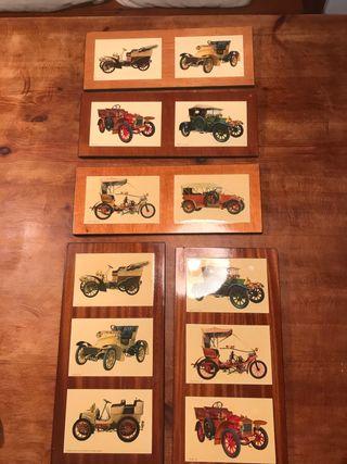5 Cuadros de coches antiguos