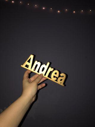 Nombres personalizado en madera
