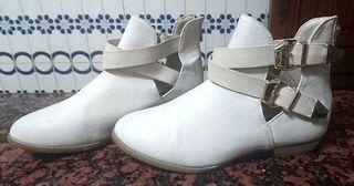 Botines Blanco Roto Nº 36