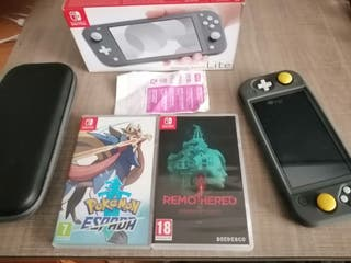 Nintendo Switch Lite Gris + 2 Juegos