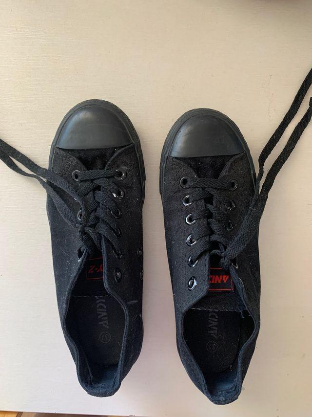 Bambas zapatillas Andy Z negras talla 37 chica