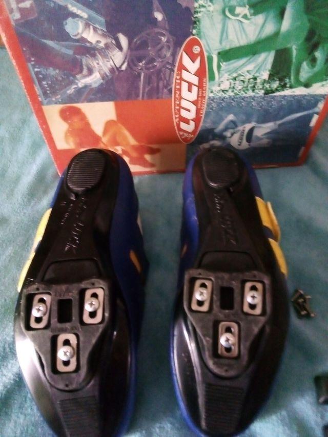 zapatillas bicicleta marca luck puestas 1 vez
