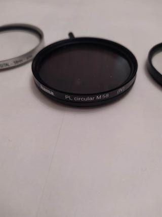 filtros 58 mm fotografía PLC, UV Y DAY AND NIGHT