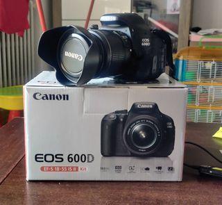 CANON EOS 600D + OBJETIVO 18-55 + ACCESORIOS