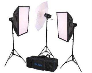 Kit Studio Flash Starblitz 160 + caja de luz