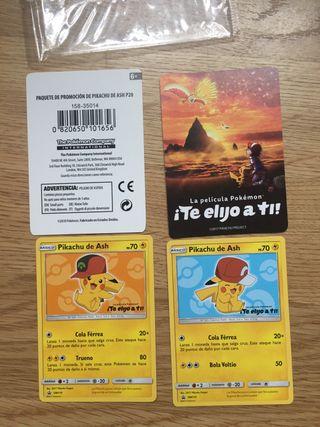 Cartas Pikachu de ash