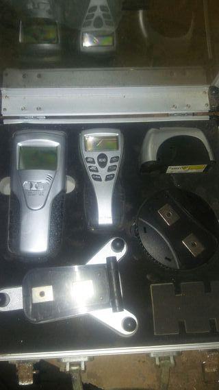 nivel laser, metro y detector