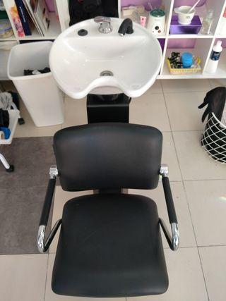 lavavacabezas con silla