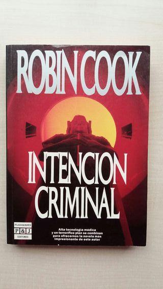 Libro Intención criminal. Robin Cook.