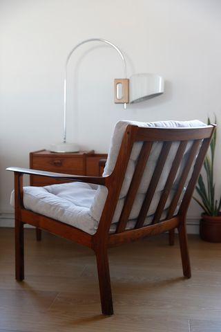 sillon vintage danes años 60 en palissandro