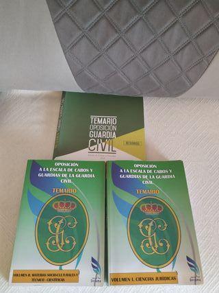 Temarios oposicion guardia civil