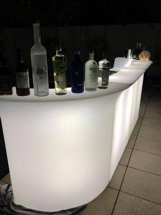 Barra de bar para eventos catering