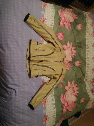 chaqueta moto mujer teknic cuero