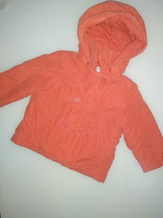 Abrigo naranja bebé niño 12m texbaby
