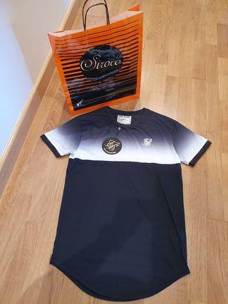 camiseta negra sik silk hombre
