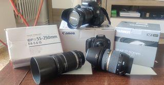 Canon EOS 600D + 3 OBJETIVOS + ACCESORIOS