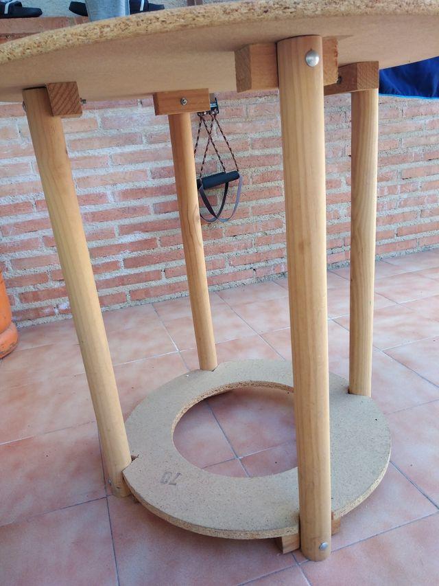 mesa camilla de 70 cm