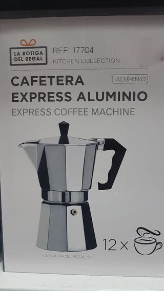 cafetera express aluminio