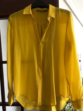 Camisa seda Zara S