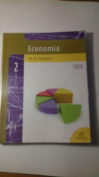 libro de texto economía 2 bachillerato Editex